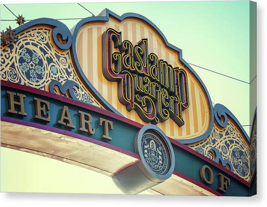 Gaslamp Close Up Canvas Print