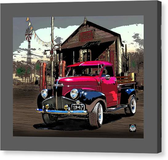 Gassed Up And Ready Canvas Print