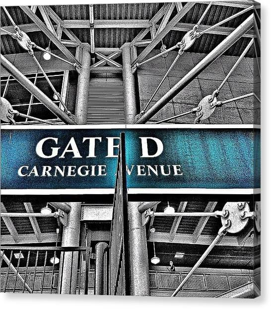 Indian Canvas Print - Gate D Progressive Field by Matthew Barker