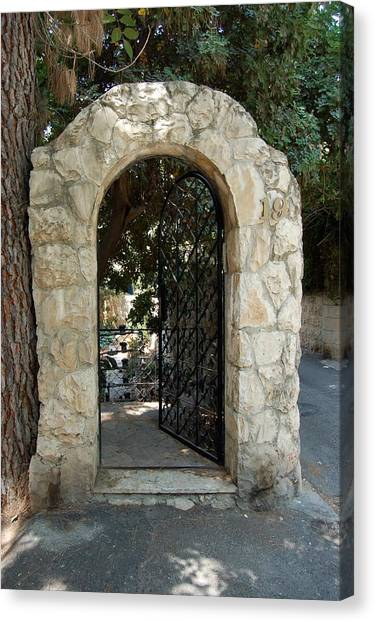 Gate In Rehavia I Canvas Print by Susan Heller