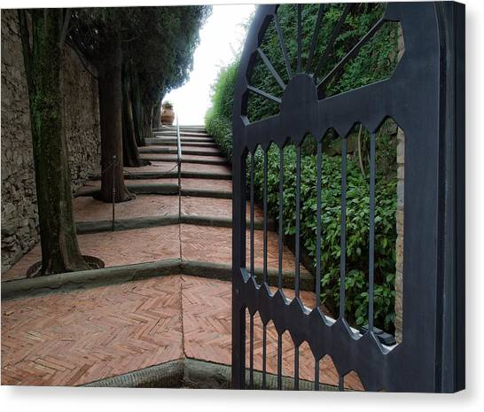 Gate To Castello Vichiamaggio Canvas Print