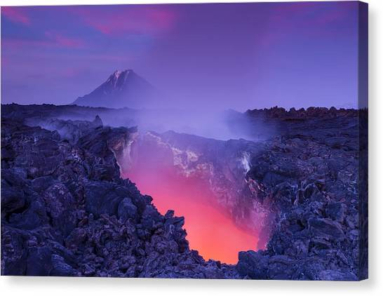 Lava Canvas Print - Gate To Hell by Denis Budkov
