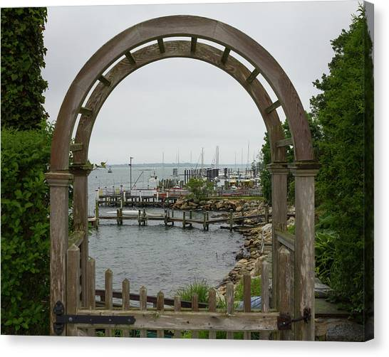 Gate To Noank Harbor Canvas Print