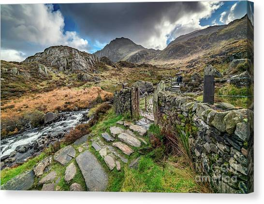 Tryfan Mountain Canvas Print - Gate To Snowdonia by Adrian Evans