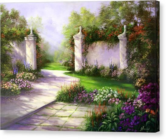 Gates In Menlo Park Canvas Print by Gail Salitui