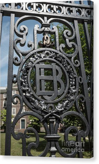 Ivy League Canvas Print - Gates Of Brown University Providence Rhode Island by Edward Fielding