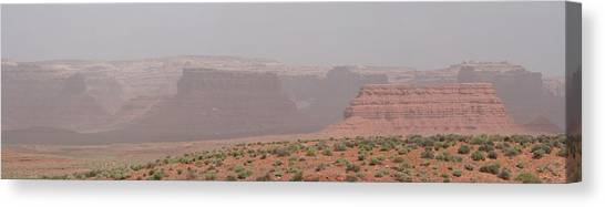 Gateway To Valley Of The Gods Canvas Print by Gregory Jeffries