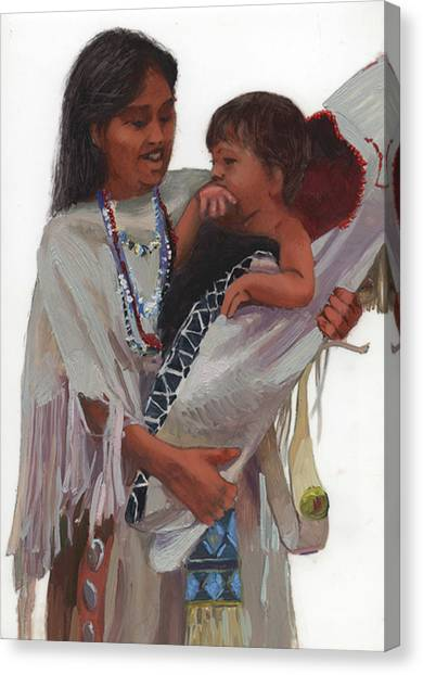 Betty Billups Canvas Print - Gathered Tenderness by Betty Jean Billups
