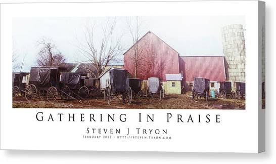 Gathering In Praise Canvas Print by Steven Tryon