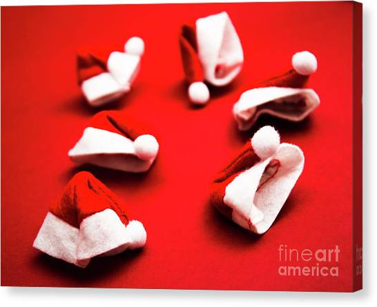 Santa Canvas Print - Gathering Of X-mas Hats by Jorgo Photography - Wall Art Gallery