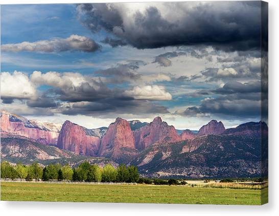 Gathering Storm Over The Fingers Of Kolob Canvas Print