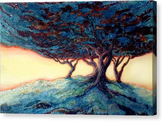 Storm Canvas Print - Gathering The Storm by Lee Baker DeVore