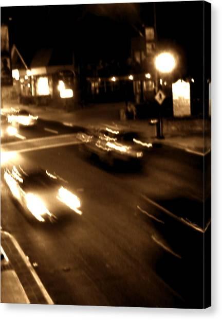 Gatlinburg At Night Canvas Print