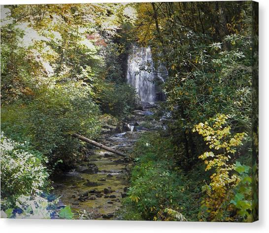 Gatlinburg Tn Waterfall Canvas Print