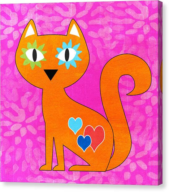 Skeletons Canvas Print - Gato by Linda Woods