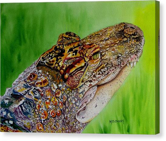 Gator Ali Canvas Print by Maria Barry