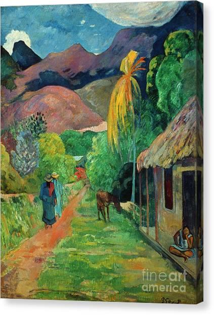 Aod Canvas Print - Gauguin Tahiti 19th Century by Granger