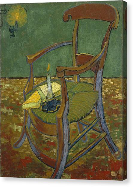 Canvas Print featuring the painting Gauguin's Chair by Van Gogh