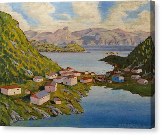 Gaultois Village Newfoundland Canvas Print