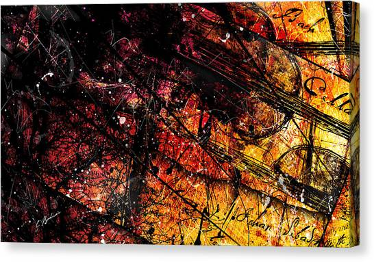 Cellos Canvas Print - Gavotte In E Major by Gary Bodnar