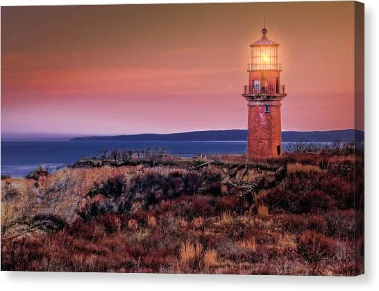 Gay Head Light At Sunrise Canvas Print