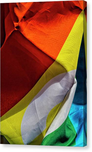 Gay Pride 2017 Nyc Pride Flag Canvas Print by Robert Ullmann