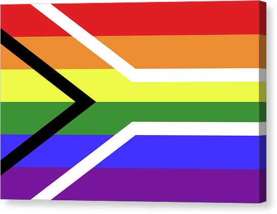Rainbow Six Canvas Print - Gay Pride Flag Of South Africa by Peter Hermes Furian
