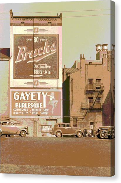 Gayety Burlesque Parking Canvas Print