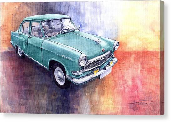 Classic Cars Canvas Print - Gaz 21 Volga by Yuriy Shevchuk