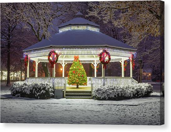 Gazebo In Beaver Pa Canvas Print