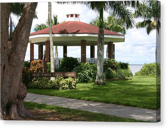 Gazebo Punta Gorda Fl Canvas Print by Francesco Roncone