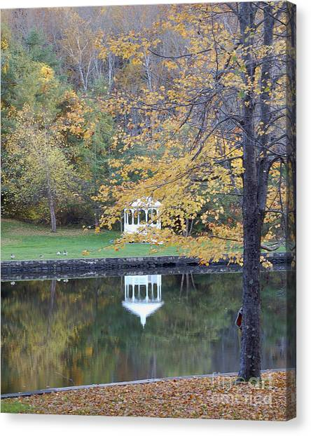 Gazebo Reflection Canvas Print by Faith Harron Boudreau