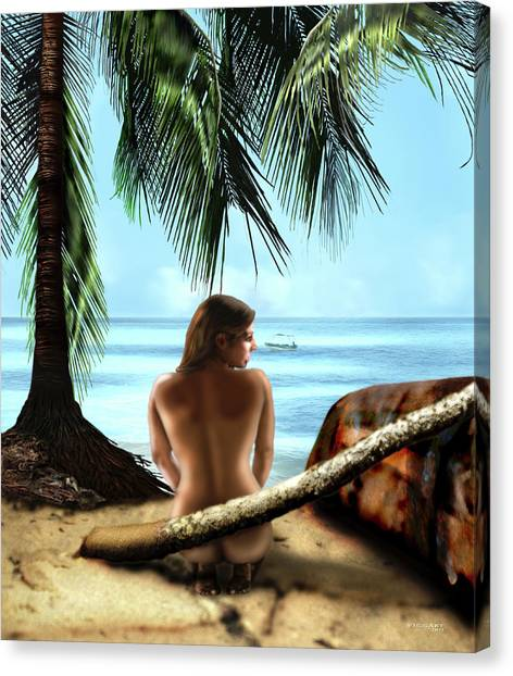 Gazing At The Ocean Canvas Print