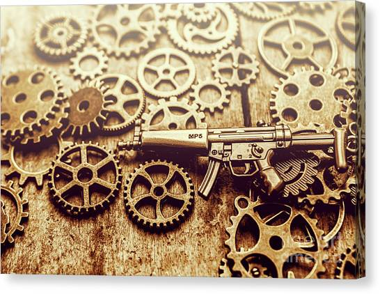 Engineering Canvas Print - Gear Of Weapon Design by Jorgo Photography - Wall Art Gallery