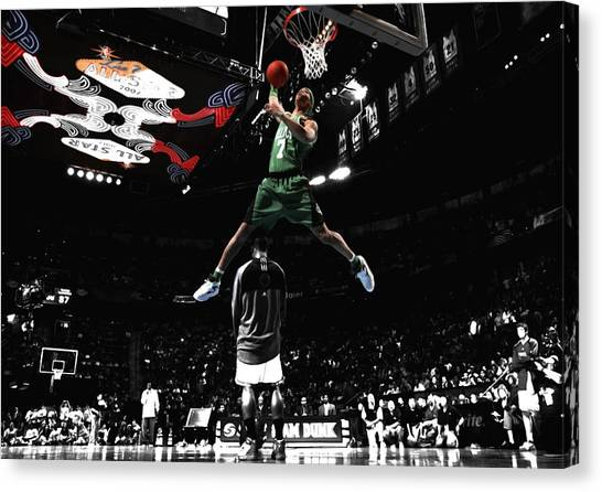 Dwight Howard Canvas Print - Gearld Green Took Flight by Brian Reaves