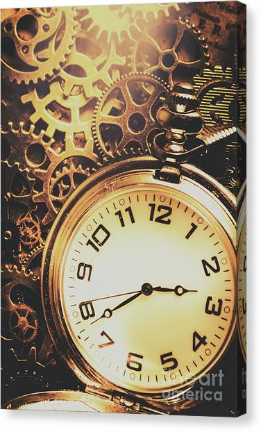 Metallic Canvas Print - Gears Of Time Travel by Jorgo Photography - Wall Art Gallery