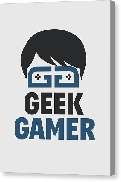 Gaming Consoles Canvas Print - Geek Gamer by Dusan Naumovski