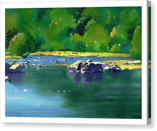 Geese On The Rappahannock Canvas Print