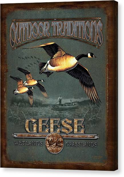 Geese Canvas Print - Geese Traditions by JQ Licensing
