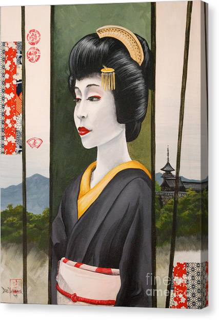 Geisha Canvas Print by Dee Youmans-Miller
