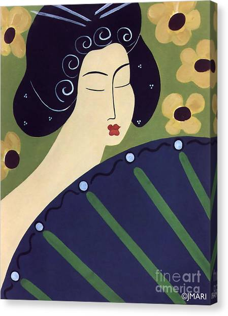 Geisha Doll Canvas Print