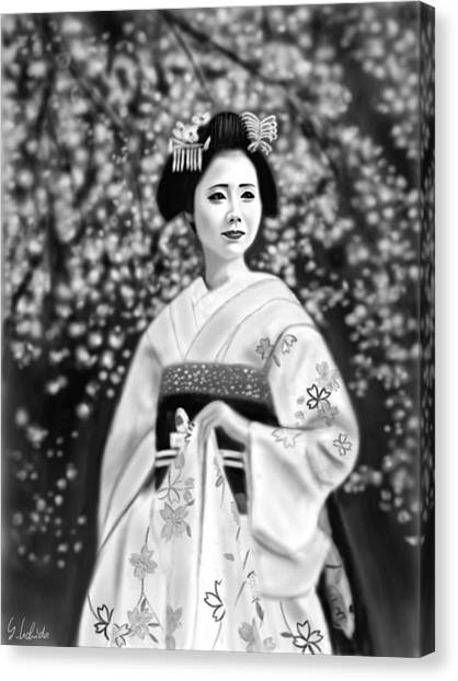 Geisha No.146 Canvas Print by Yoshiyuki Uchida