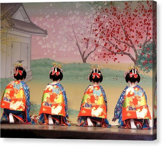 Geisha Row Canvas Print