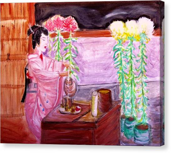 Geisha Tea Ceremony Canvas Print