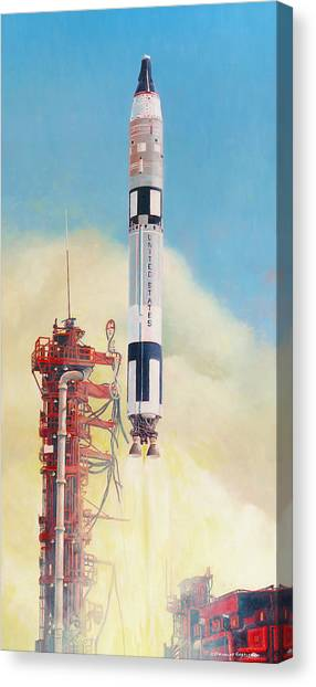 Gemini-titan Launch Canvas Print