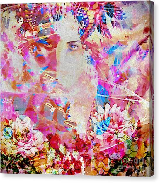 Canvas Print featuring the photograph Gemini Woman by Eleni Mac Synodinos