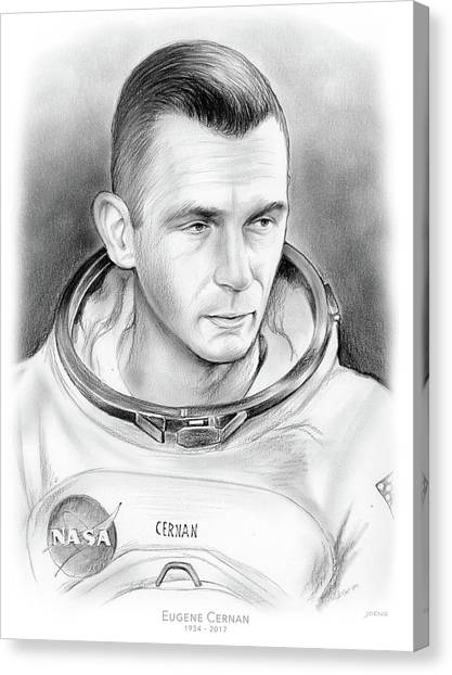 Mission Canvas Print - Astronaut Gene Cernan by Greg Joens