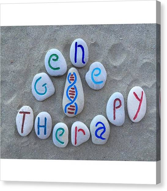 Genetics Canvas Print - Gene Therapy, Conceptual Carved Stones by Adriano La Naia