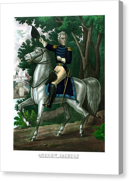 War Horse Canvas Print - General Andrew Jackson On Horseback by War Is Hell Store