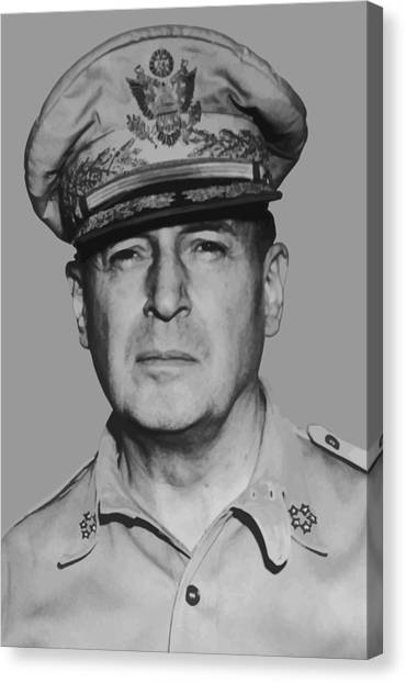 Ww1 Canvas Print - General Douglas Macarthur by War Is Hell Store